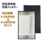 合計2枚セット F-ZXJP90 F-ZXFD70 空気清浄機交換用フィルター 集塵フィルター 加湿空気清浄機用交換フィルター PANASONIC(パナソニック)互換 非純正