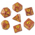 ダイス サイコロ TRPG◆クラシック(Classic dice)【キャラメル&イエローダイス】Caramel&Yellow Q-WORKSHOP
