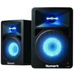 Numark アンプ内蔵 DJモニタースピーカー LEDの光がビートで変化 N-Wave 580L