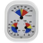 クレセル不快指数計付温湿度計スタンド付きCF?431