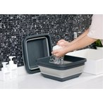 折りたたみ たらい 畳んでコンパクト収納 ソフトバケツ コンパクトバケツ 便利グッズ 折り畳みたらい 洗い桶 洗いおけ つけ置き 掃除 洗面器 出張用 日常用