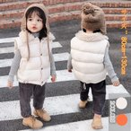 中綿ベスト ダウンベスト キッズ服 子供服 ジュニア 前開き 女の子 男の子 軽量 厚手 ジャケット 暖かい レイヤード アウター トップス 秋冬春 防寒 可愛い