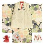 七五三 着物 3歳 女の子被布セット 天使ブランド 白 乱桜 金彩使い 被布桜刺繍白色 雛祭り 正月 足袋付セット 日本製