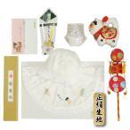 お宮参り着物用 正絹フードセット 白 お宮参り8点セット 男の子向き 日本製