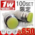 T10 T16 ナンバー灯  LED ライセンスランプ 100SET限定 2個セット 樹脂ヘッド 超拡散 ヴェルファイア アルファード 20