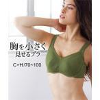 ブラジャー [D70-F80] 胸を小さく見せる胃にくいこみにくいブラジャー ニッセン nissen