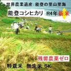 無洗米  コシヒカリ 新米 20年産 特別栽培 棚田米(食味値86) 5K 能登里山の米