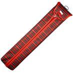 雲州堂 そろばんケース 27桁ソロバンケース 赤色 真ん中チャック式