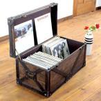 アンティーク トランク 木箱 収納ボックス 工具収納 レコード収納 ヴィンテージ ケース センターテーブル ウッドボックス ベジタブ