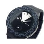 エイトップ ATOP ワールドタイム メンズ腕時計  VWA-11 ブラック  メンズ腕時計