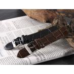 腕時計 ベルト メンズ 本革 カーフ型押しクロコ 腕時計 メンズ 替えベルト PLCRSY30-20-BK ブラック