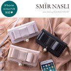 サミールナスリ SMIR NASLI Ribbon Mobile 6/7 リボンモバイル iPhone iPhone7 iPhone6/6S ケース リボン パール 手帳型 ショルダー 合皮