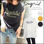 【送料無料】ungrid アングリッド RapidesプリントTee レディース トップス Tシャツ 半袖 大きめ ゆったり ビッグtシャツ ロゴ プリント