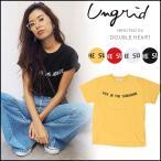 ungrid アングリッド SUNSHINEプリントTee レディース トップス Tシャツ カットソー 半袖  ロゴT 111732721201