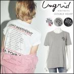 ungrid アングリッド USA TOUR Tee レディース トップス Tシャツ 半袖 USA ツアー バンドTシャツ バンドT 大きめ ゆったり シンプル ロゴ