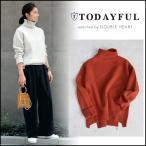 TODAYFUL トゥデイフル LIFE's ライフズ 通販 Boiled Wool Knit トップス ニット ウール タートルネック オフホワイト サン オレンジ 11620539