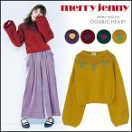 merry jenny メリージェニー ハートもふもふニットロングスリーブ レディース トップス ニット ロング ショート 起毛 ハート シンプル