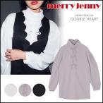 merry jenny メリージェニー リボン×3シャツ レディース トップス シャツ リボン ロールネック シンプル 無地 長袖 281660400101