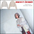 merry jenny メリージェニー ふゆのきおくケーブルニット レディース トップス ニット ケーブルニット ショート 雪 ビーズ フリンジ テープ