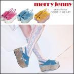 merry jenny メリージェニー グリッター厚底サンダル サンダル レディース 厚底 ヒール ラメ グリッター キラキラ ベロア 靴 シューズ 281721801001