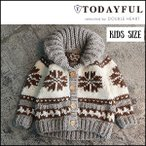 トゥデイフル TODAYFUL 通販 Kids Cowichan Knit キッズカウチンニット 110cm 子供 キッズ ニットアウター カーデ ジャケット [Y100]
