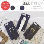 BLACK BY MOUSSY ブラックバイマウジー iPhone背面ケース ベルト付き背面ケース(iPhone8plus/7plus) iphone8plus ケース カバー スマホケース 7Plus b07909605