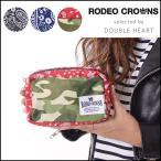 RODEO CROWNS ロデオクラウンズ HANDY PRINT ポーチ レディース メイクポーチ 可愛い バンダナ柄 迷彩 ブランド c06702306[1111]