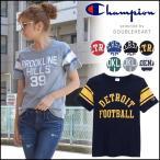 チャンピオン Champion ウィメンズ FOOTBALL T-SHIRT フットボールTシャツ レディース メンズ Tシャツ ロゴ ライン クルーネック ビンテージ 古着
