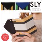 SLY スライ iPhone7三つ折り手帳ケース/stripe iPhone  iphone6 iphone6s iPhone7ケース iPhoneケース アイフォンケース ケース カバー 手帳型