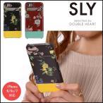 SLY スライ ポケット付き背面ケース/NIGHT FLOWER iPhone  iphone6 iphone6s iPhone7ケース iPhoneケース アイフォンケース ケース カバー