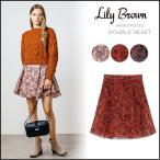 リリーブラウン Lily Brown フロッキープリントスカパン レディース ボトムス スカート パンツ キュロット レトロ 短パン ミニスカート LWFP165070