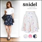 スナイデル snidel プリントフレアミニスカート スカート ミニスカート フレア 花柄 フラワー SWFS162162