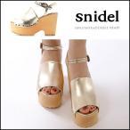 ショッピングサボ スナイデル snidel WOODウェッジソールサボ レディース シューズ 靴 サボ サンダル オープントゥ ベルト ストラップ ウッド ウェッジ ウェッジソール