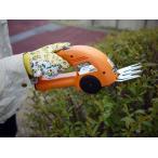 【再入荷!】家庭用 草刈機 草刈りバリカン 充電式 ハンディータイプ&スライド式シャフト付けは外し自由な2WAY(オレンジ色)(新品)