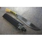 刃渡270mm 土佐物 安来青紙鋼 忠親製 鞘付剣鉈 ヒルト有 両刃