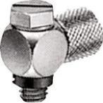 SMC ミニチュア管継手 ホースエルボ(H) M5 M-5HLH-6 (482-8232) 《チューブ継手》