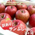 サンふじ 送料無料 訳あり りんご 3kg詰沖縄別途送料加算 サンフジ