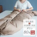 寝袋 ダウン80% シュラフ ダウンケット 羽毛寝袋 冬用 洗える 軽量 封筒型 コンパクト アウトドア 車中泊