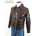 古着 ジャケット 70-80s Schott ショット デザイン ポケット 襟付き レザー ライダース ジャケット 茶 M位 古着