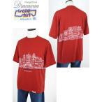 古着 Tシャツ 90s HAWAII製 Crazy Shirts CHINA TOWN 風景 プリント Tシャツ XL 美品!! 古着