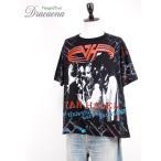 古着 Tシャツ 90s USA製 VAN HALEN 人気 「F.U.C.K」 総柄  ロック バンド Tシャツ 黒 XL 古着