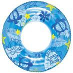 男女問わず大人が使えるサイズ 120cm ホヌビーチ ブルー 浮輪 浮き輪 うきわ ウキワ 取手付き プールや海水浴に 大人用