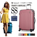 スーツケース 機内持ち込み 軽量 SSサイズ ファスナー スーツケース キャリー ハードケース TSA キャリーケース ハンガー 1年間保証