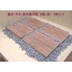 擬木(ギ木)枕木風平板 B型(茶) 4枚セット