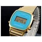 ◆ カシオ CASIO クオーツ デジタル レディース 腕時計 LA670WGA-2 ブルー/ゴールド ◆
