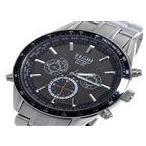 ◆エルジン ELGIN 電波 ソーラー クロノ メンズ 腕時計 FK1412S-BP ブラック◆ ラッピング可