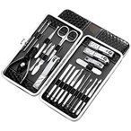 KESYOO 爪切りセット ネイルケア フェイスケア 多機能セットステンレス製 携帯用 収納ケース付き 20点セットにきびの針付きない 男女