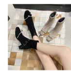 レディース ショート ブーツ 黒 ベージュ チャンキー ヒール