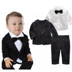 男の子 スーツ ベビースーツ 3点セットジャケット ブラウス パンツ フォーマル 男の子 フォーマル 子供服 ベビー タキシード ベビースーツ
