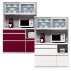 ショッピング食器 食器棚 レンジ台 レンジボード 完成品 引き戸 引戸 幅120cm モダン ホワイト 白木目 ワインレッド 赤